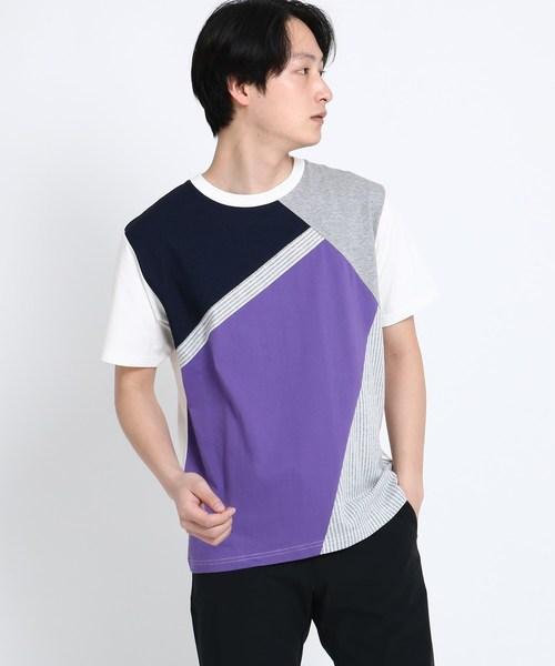 斜め切替Tシャツ