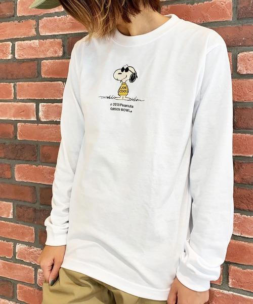 SNOOPY×OLD BETTY'S(スヌーピーカケルオールドベティーズ)の「SNOOPY Embroidery Long Sleeve T-shirts/スヌーピー 刺繍 長袖 Tシャツ ロンT(Tシャツ/カットソー)」 ホワイト系その他3