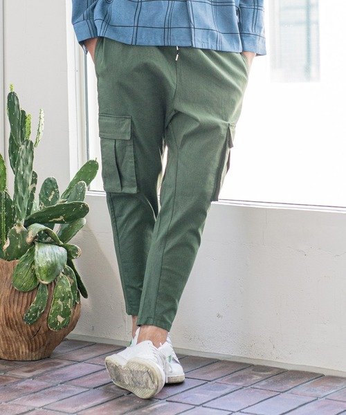 mp8204-Stretch Sarouel Tight Tapered Cargo Pants カーゴパンツ