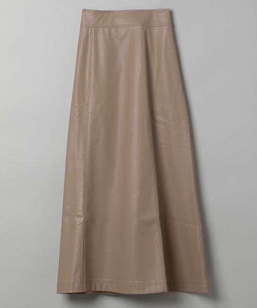 JEANASIS(ジーナシス)の「ビーガンレザーマーメイドスカート/894242(スカート)」 ベージュ