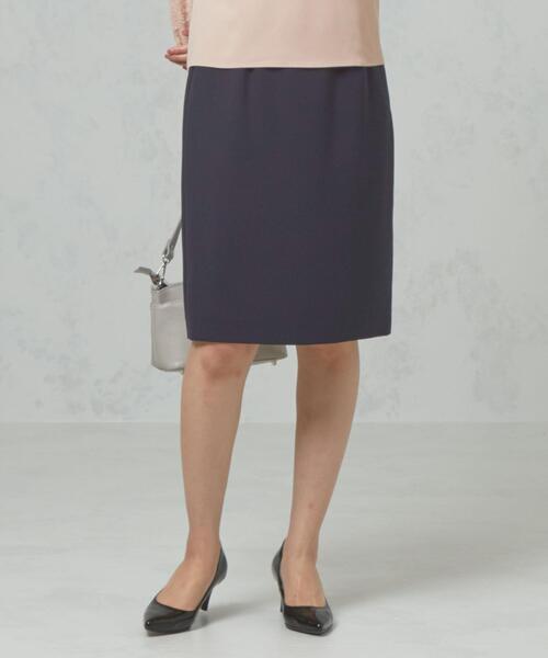 <closet story>□ パウダリー ベルト タイトスカート -手洗い可能-