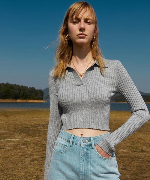 【Fano Studios】【2021SS】4-color short knit polo shirt FC21S060