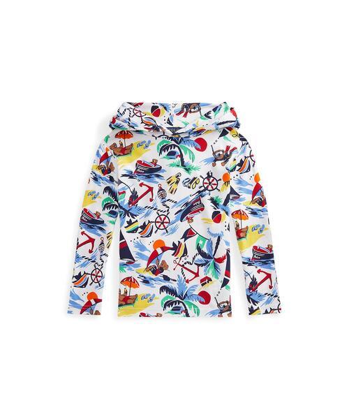Polo ベア コットン ジャージー フーデッド Tシャツ