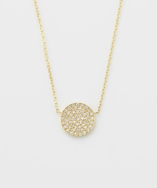 agete(アガット)の「K18ダイヤモンドネックレス(ネックレス)」 ゴールド系その他