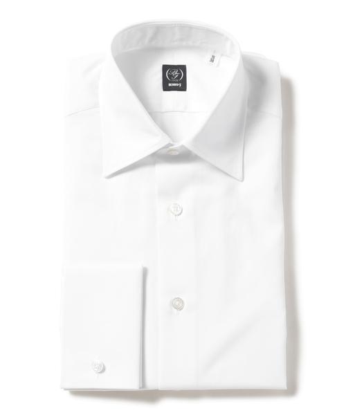 BEAMS F / ブロード セミワイドカラーシャツ