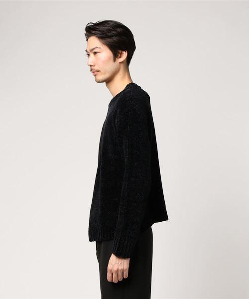 【Cathy'scloset】5Gポリモール天竺ワイドクルーネックセーター