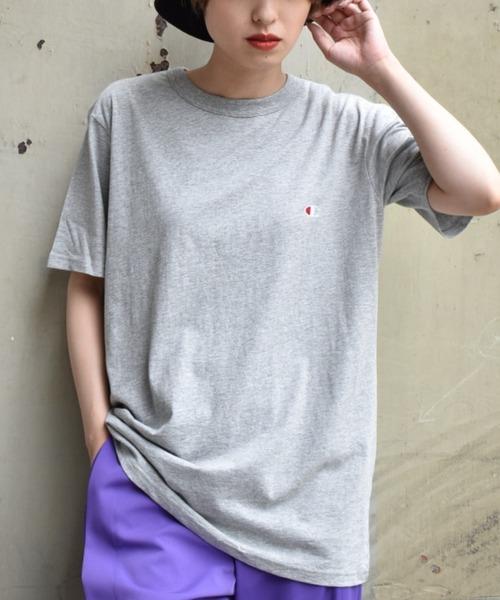〈Champion〉ワンポイントTシャツ
