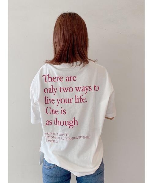 one way(ワンウェイ)の「テキストロゴT(Tシャツ/カットソー)」|ライトピンク