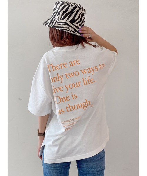 one way(ワンウェイ)の「テキストロゴT(Tシャツ/カットソー)」|オレンジ