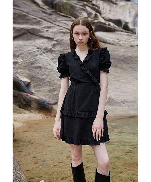 【Fano Studios】【2021SS】Frill cachecoeur dress FX21L168