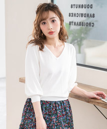 a9dd3433be27a セール ニット セーター(ホワイト 白色系・ショート丈)ファッション ...