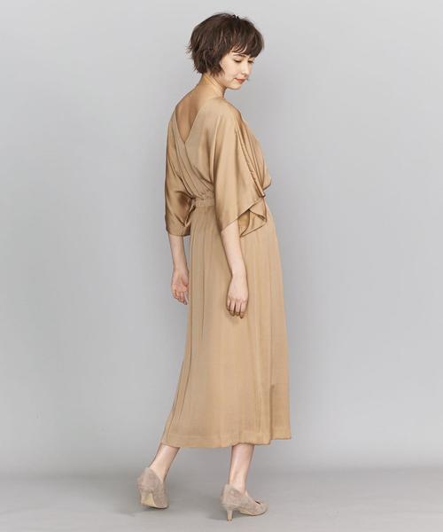 BY DRESS ケープスリーブロングドレス ◆