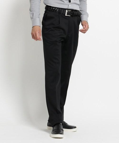 【高額売筋】 【セール ONLINE】 STORE【ウエストストレッチ】ワンタックスラックス(パンツ)|adabat(アダバット)のファッション通販, 大内山村:d37b560e --- fahrservice-fischer.de