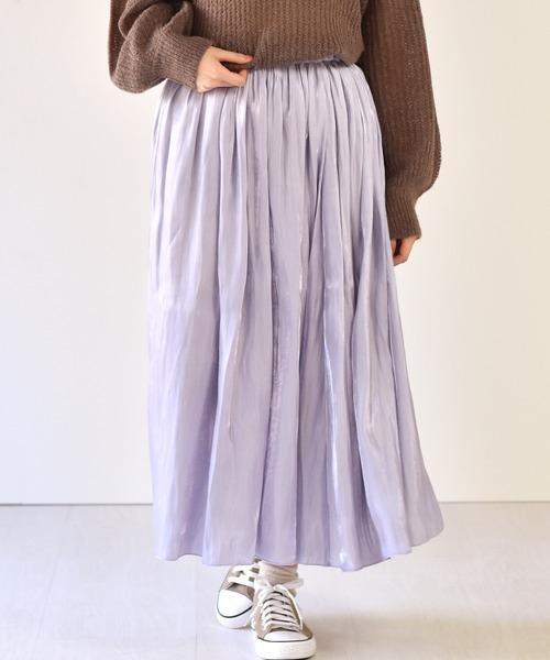 オーロラサテンリバースカート