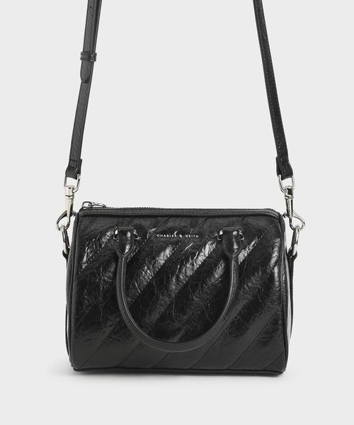 パテント パネルドトートバッグ / Patent Panelled Tote Bag