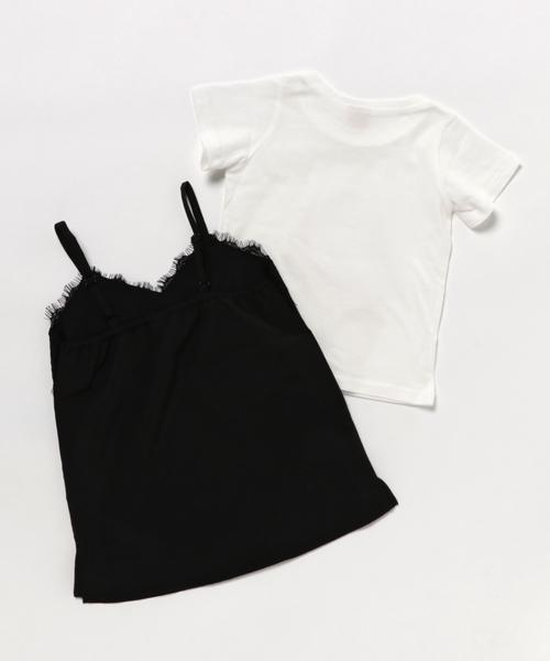 レースキャミソールワンピース&半袖Tシャツセット