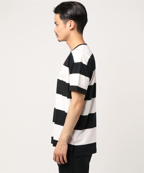 AZIONE/アジオネ/ルーズボーダーTシャツ