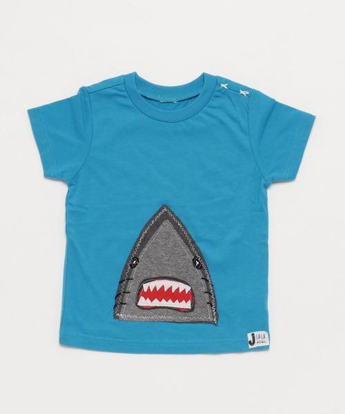 J LALA/ジェイララ シャークプリントTシャツ ユニセックス(90cm~120cm相当)