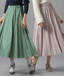 Andemiu(アンデミュウ)のリバーシブルプリーツスカート826986(スカート)