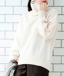 le.coeur blanc(ルクールブラン)の【WEB限定】ラムウールタートルニット(ニット/セーター)