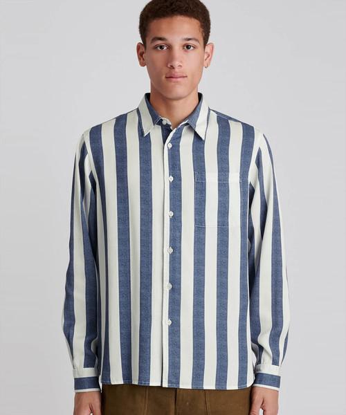 お気にいる Perry Jumbo ,Perry Stripe Long Sleeve Shirt(シャツ Jumbo/ブラウス) Sleeve Saturdays NYC(サタデーズ ニューヨークシティ )のファッション通販, 大きな取引:9cacb2b9 --- munich-airport-memories.de