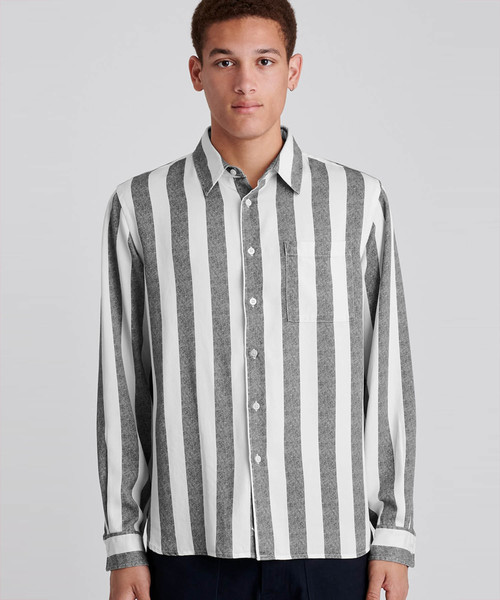 【人気ショップが最安値挑戦!】 Perry Jumbo Long Jumbo Stripe Long Sleeve Shirt(シャツ ニューヨークシティ/ブラウス)|Saturdays NYC(サタデーズ ニューヨークシティ )のファッション通販, 不思議香菜ツナパハ:8ff9bbc9 --- munich-airport-memories.de