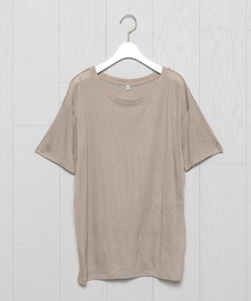 <BASERANGE>BAMBOO JERSEY LOOSE T-SHIRT/Tシャツ