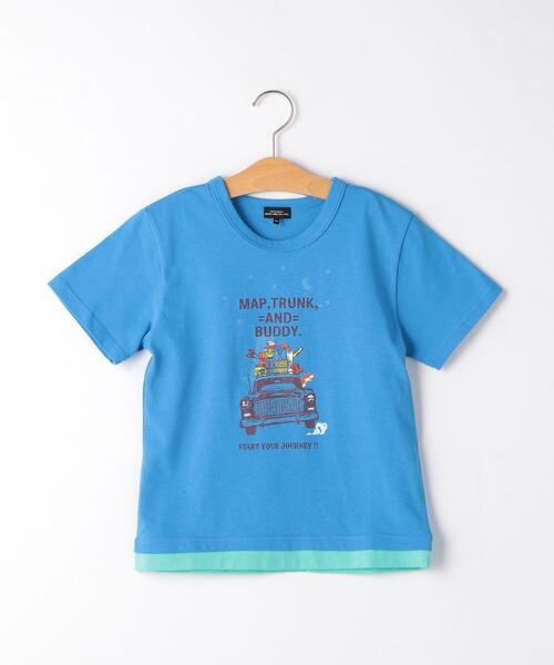 CARモチーフプリント Tシャツ