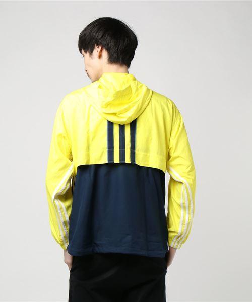 adidas AUTH ANORAK (ショックイエロー F18/カレッジネイビー)