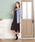 EVLOVE(イヴロヴ)の「【洗濯機で洗える】スパークナイロンラグランフーデッドトッパーカーディガン(カーディガン)」 サックスブルー