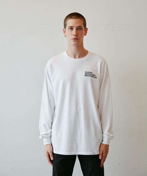 ROTTWEILER(ロットワイラー)の「CANINE LS Tee(Tシャツ/カットソー)」|ホワイト