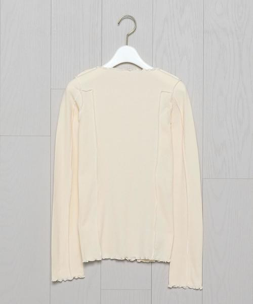 <BASERANGE>OMATO LONG SLEEVE COTTON RIB PULLOVER/カットソー