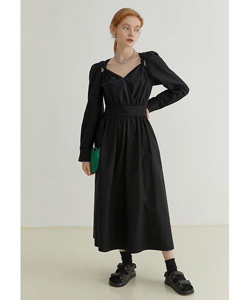 【Fano Studios】【2021AW】Shoulder cut out long sleeve dress FQ21L020
