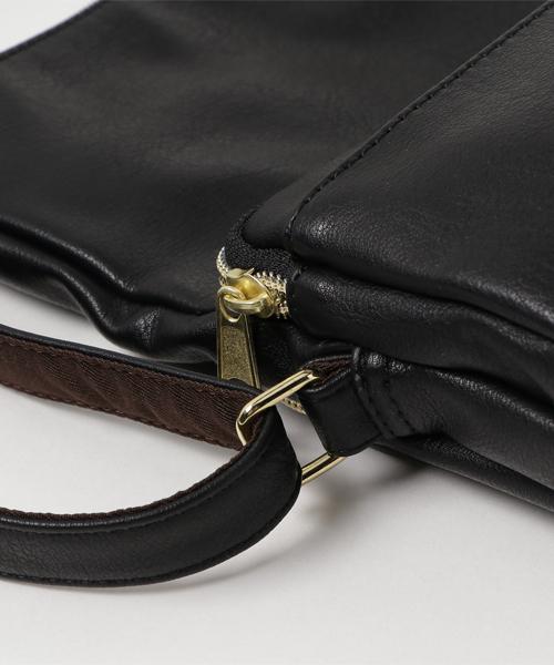 【Legato Largo】シボ合皮 多収納口折れミニショルダーバッグ