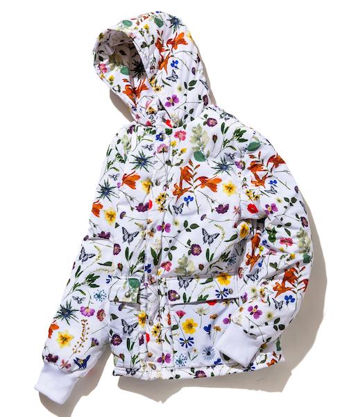 rehacer : Botanical Down jacket