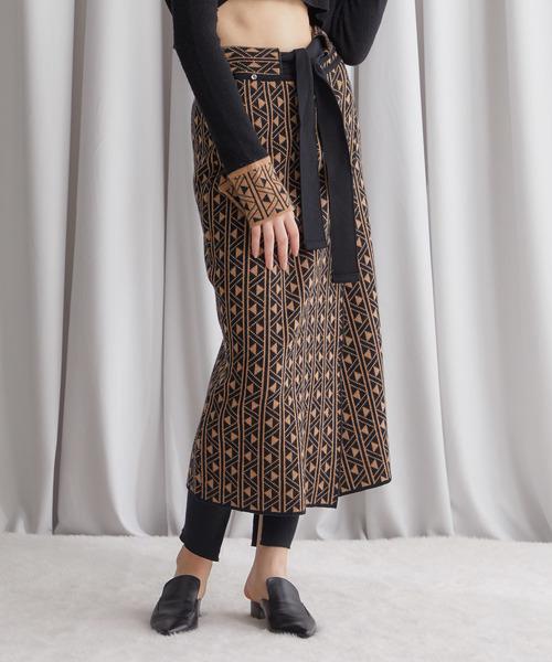 超激安 【TAN(タン)】カーブラップニットナロースカート TAN,タン,STUDIOUS 19AW-39(スカート) TAN(タン)のファッション通販, 健康と快適生活:78c7d5ec --- skoda-tmn.ru