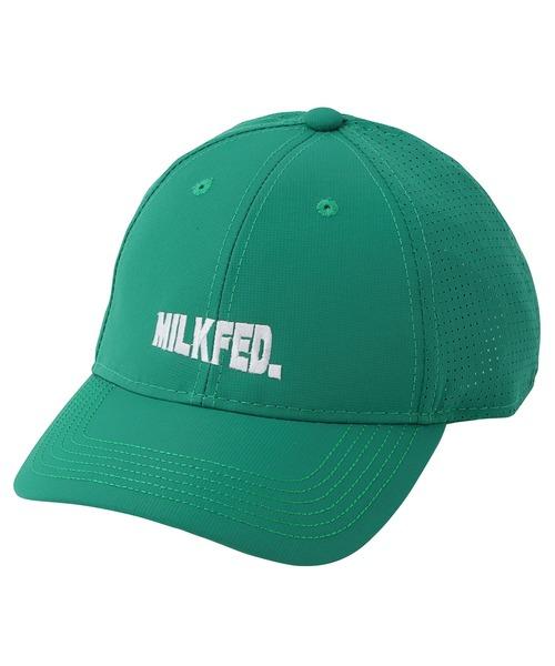 MILKFED.(ミルクフェド)の「SLANTED LOGO CAP(キャップ)」 グリーン