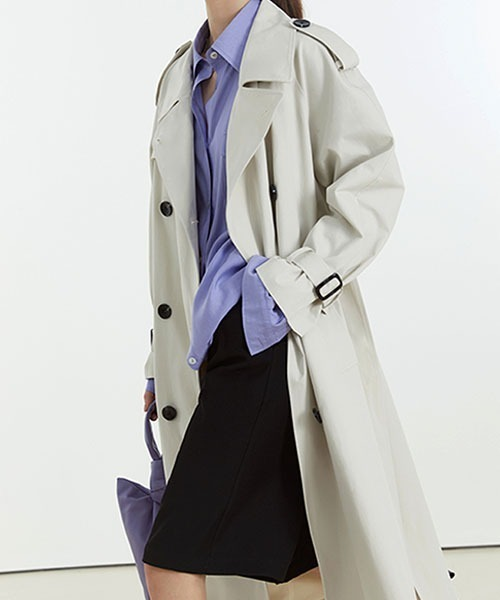 【Fano Studios】【2021SS】Oversized double breasted belted trench coat cb-3 FC21W051