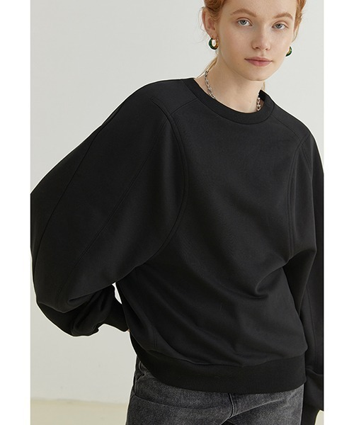 【Fano Studios】【2021AW】Volume sleeve round neck sweater FQ21S021