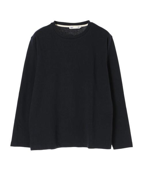 ・メランジクルーネックロングTシャツ