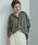 Emma Taylor(エマテイラー)の「【STYLEBAR】サンドウォッシュパールボタンシャツ(シャツ/ブラウス)」|カーキ