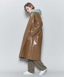 <6(ROKU)>ENAMEL×BOA REVERSIBLE NO COLLAR COAT/コート