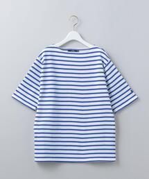 <SAINT JAMES>OUESSANT BORDER SHORT SLEEVE PULLOVER/カットソー Ψ