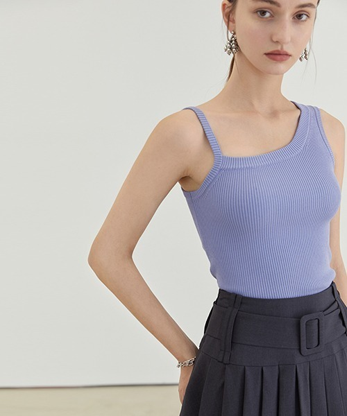 【Fano Studios】【2021SS】Asymmetrical shoulder strap tops FX21S277