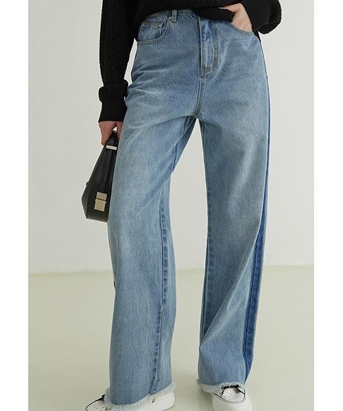 【Fano Studios】【2021AW】Side seam contrast jeans FQ21K035