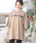 【秋まで着れる】ビッグシルエット厚地ロゴTシャツ(Tシャツ/カットソー)