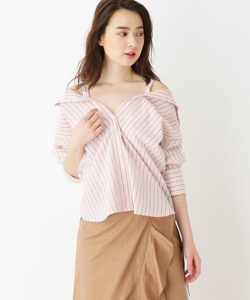 【洗える】3WAYマルチストライプシャツ