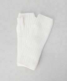 <JOHNSTONS>CASHMERE RIB FINGERLESS GLOVES/グローブ