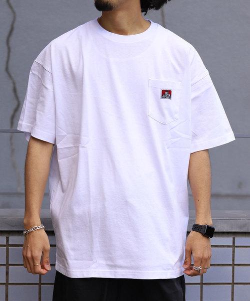 WEB限定 BEN DAVIS/ベンデイビス ビッグシルエット ワンポイント Tシャツ/オーバーサイズカットソー