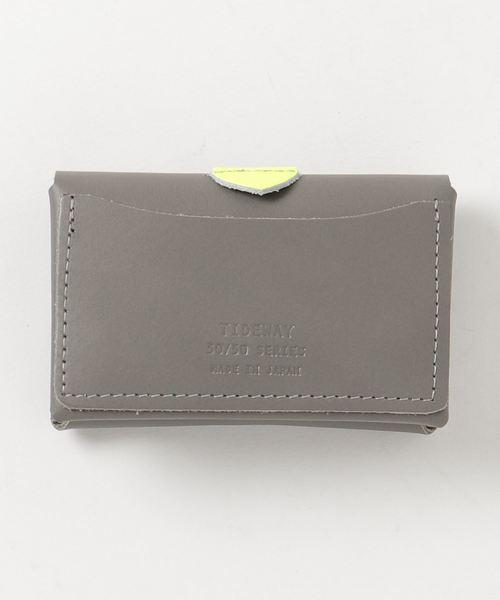 TIDEWAY(タイドウェイ)の「50/50 LEATHER CARD CASE/名刺入れ(名刺入れ)」 グレー